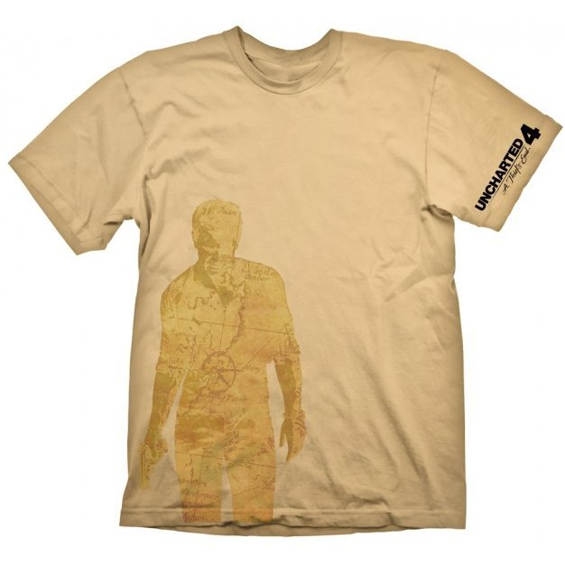 Uncharted T-Shirt: Nathan Drake Map (L Size)
