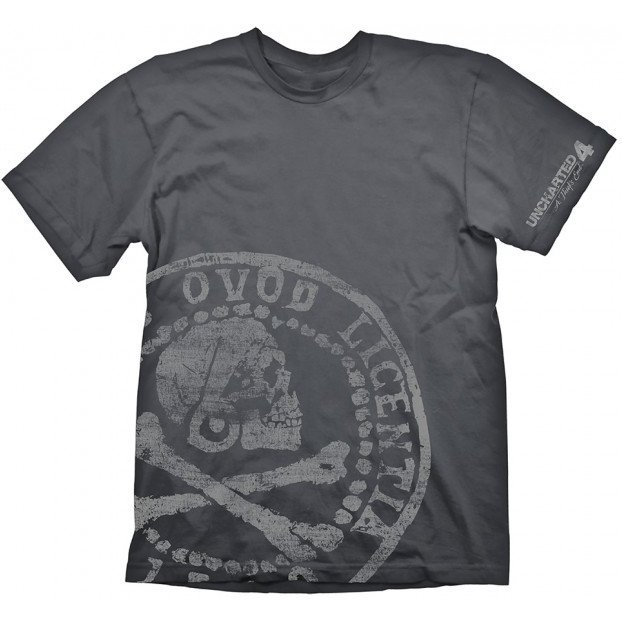 Uncharted T-Shirt: Pirate Coin Oversize Print (L Size)