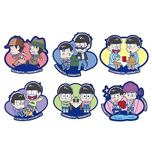 Buddy-Colle Osomatsu-san Rubber Mascot: Everyday Is Fun Even With The Same Face Series (Set of 6 pieces)