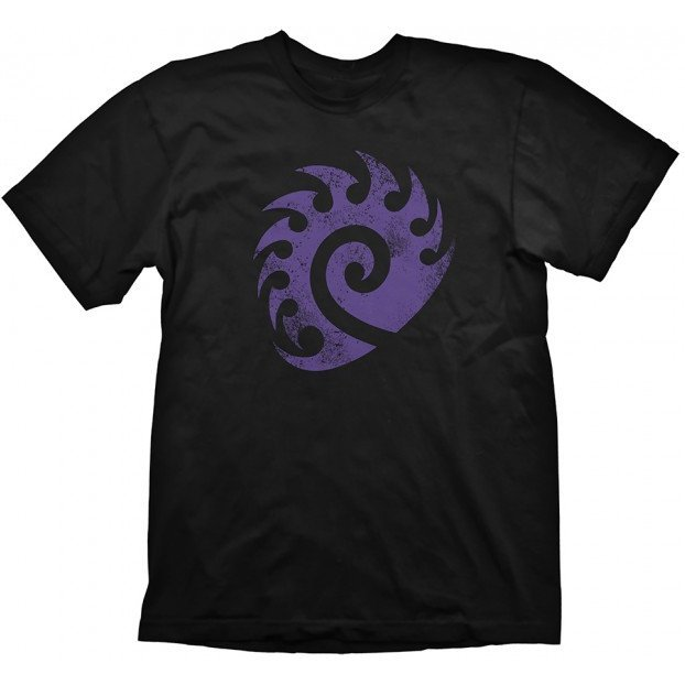Starcraft 2 T-Shirt: Zerg Logo Purple Vintage (XL Size)