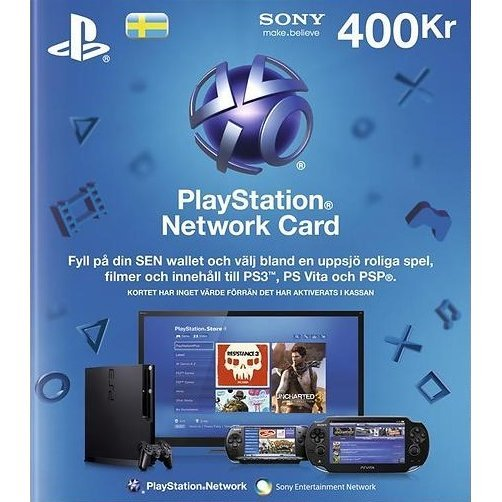 PSN Card 400 SEK | Playstation Network Sweden