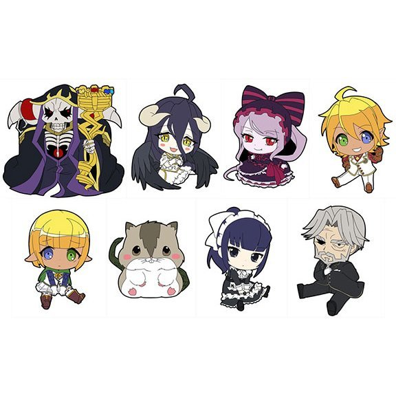 Overlord Petanko Trading Rubber Strap (Set of 8 pieces)
