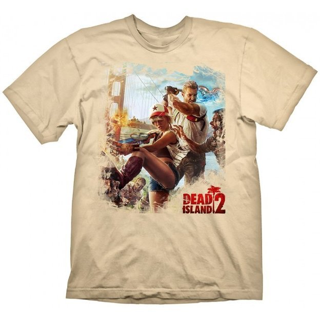 Dead Island 2 T-Shirt: Key Art Golden Gate Cream (XL Size)