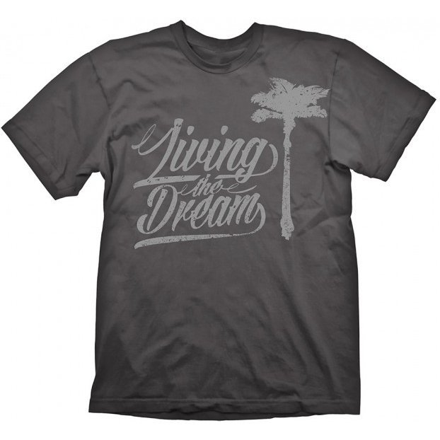 Dead Island 2 T-Shirt: Living the Dream Grey (S Size)