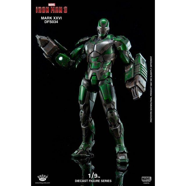 King Arts Iron Man 3 1/9 Diecast Figure Series: Mark XXVI