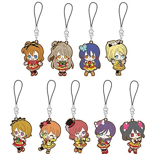 Love Live! The School Idol Movie Rubber Strap Sunny Day Song Ver. (Set of 9 pieces)