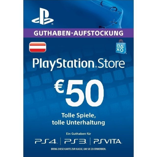 Prepaid Karte Ps4.Psn Card 50 Eur Playstation Network Austria Digital