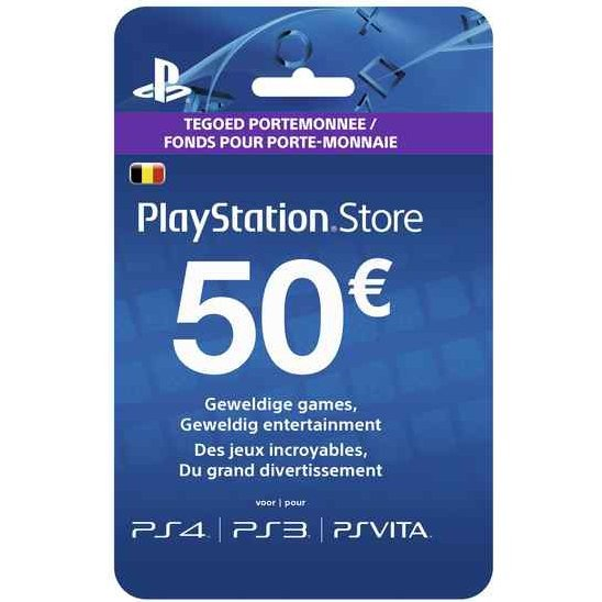 PlayStation Network 50 EUR PSN CARD BE