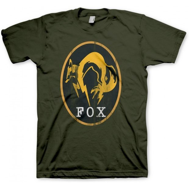 Metal Gear Solid V: Ground Zeroes T-Shirt: FOX kaki (L Size)