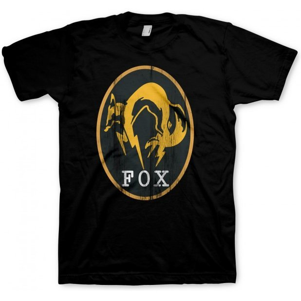 Metal Gear Solid V T-Shirt: FOX black (L Size)