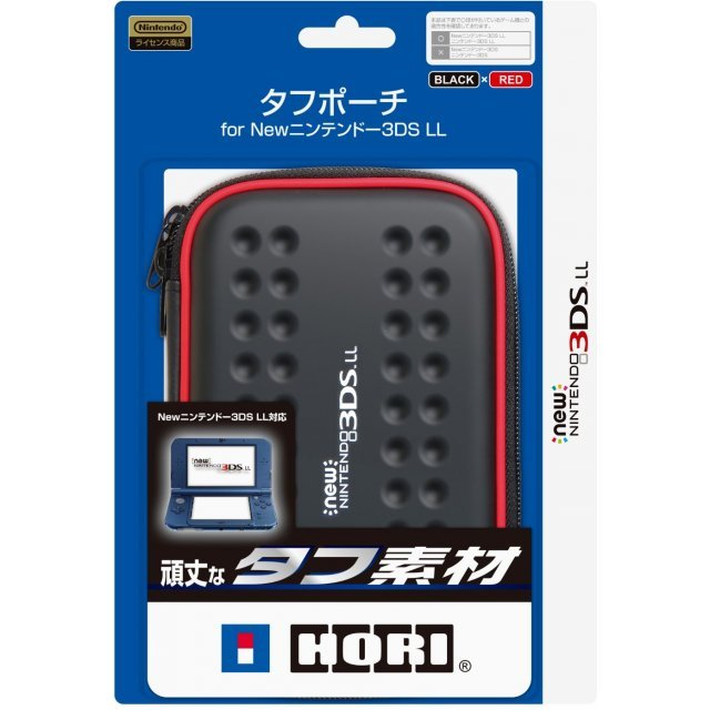Tough Pouch for New 3DS LL (Black & Red)
