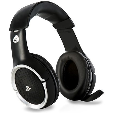 4Gamers PRO4-100 Wireless Stereo Gaming Headset for Playstation 4 (Black)