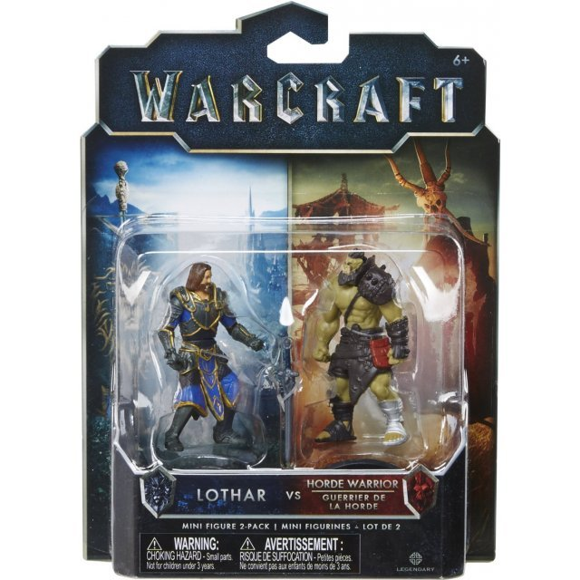 Warcraft Mini Action Figure 2 Pack: Lothar & Horde Warrior