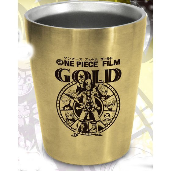 One Piece Film Gold Double Stainless Steel Tumbler: Casino
