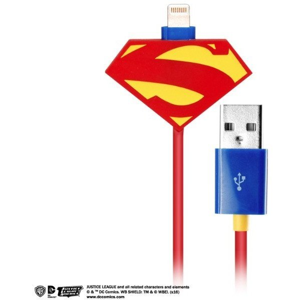 DC Comics Justice League Lightning Charge Cable for iPad/iPhone (Man of Steel)