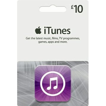 iTunes Card (GBP 10 / for UK accounts only)