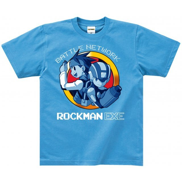 Megaman Battle Network T-shirt: Megaman Blue (M Size)