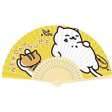 Neko Atsume Folding Fan: Manzoku-san