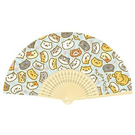 Neko Atsume Folding Fan: Pattern
