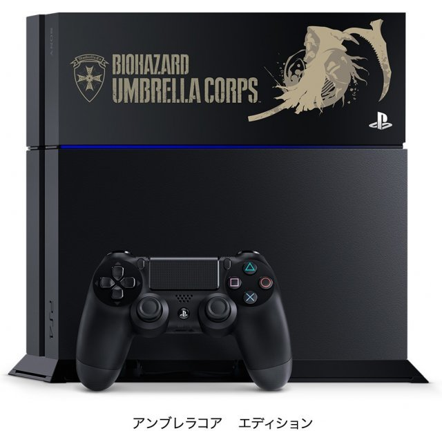 PlayStation 4 System 1TB HDD [Biohazard Umbrella Corps Special Pack] (Jet Black)