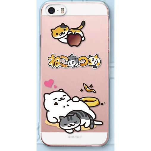 Neko Atsume Smartphone Case Ver. 2 for iPhoneSE/5S/5: Manzoku-san / Heart