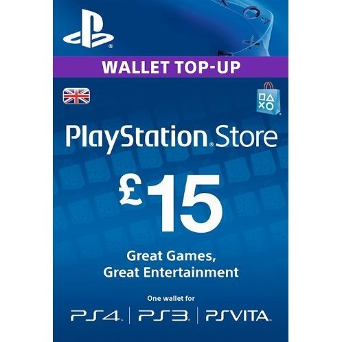 PSN Card 15 GBP | Playstation Network UK