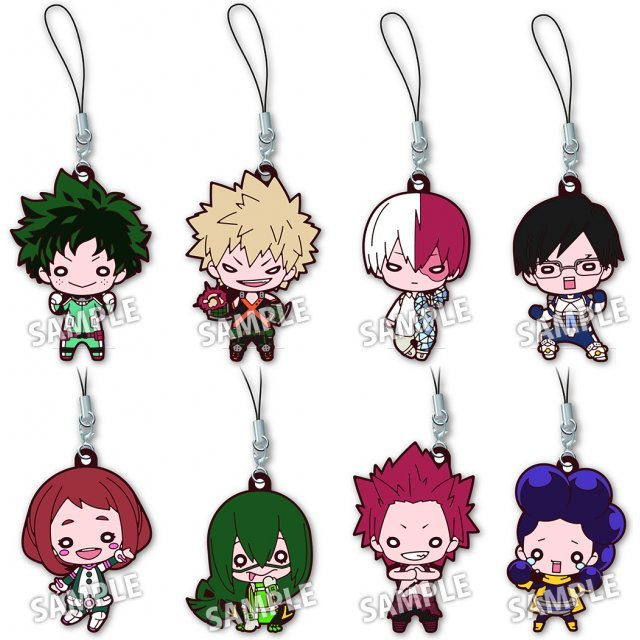 Nitotan My Hero Academia Rubber Mascot (Set of 8 pieces)