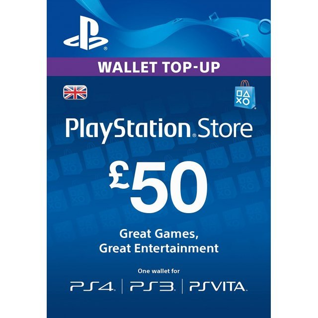 PSN Card 50 GBP | Playstation Network UK