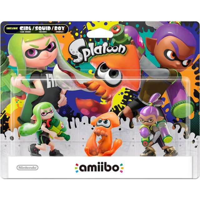 amiibo Splatoon Series Figure Triple Pack (Girl / Squid / Boy) [Different Colours]