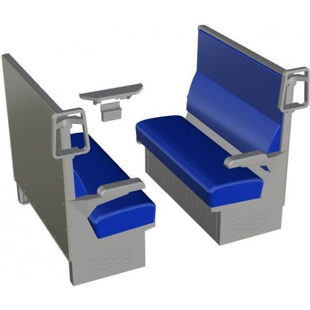 Railway Accessories Series 1/12 Scale: EK-11 Box Seat Blue (Kit Type)