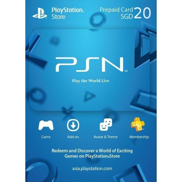 PSN Card 20 SGD | Playstation Network Singapore