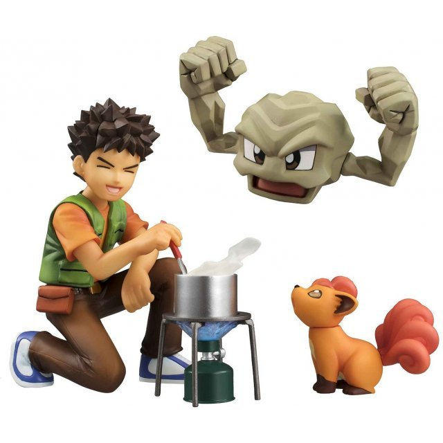 G.E.M. Series Pocket Monsters Pre-Painted PVC Figure: Brock & Geodude & Vulpix