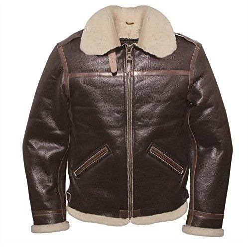 20th Anniversary Genuine Leather Leon Bomber Jacket [Size: M]