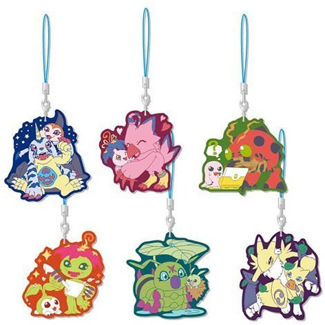 Digimon Series Rubber Strap Collection Ver. 2 (Set of 6 pieces)