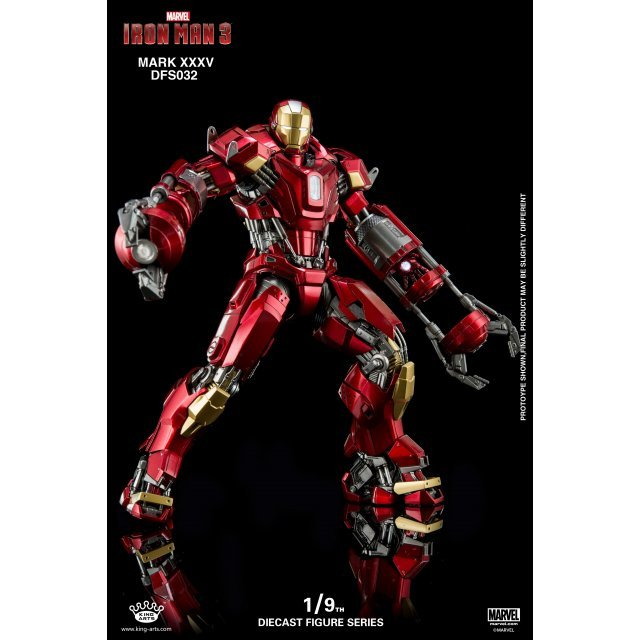 King Arts Iron Man 3 1/9 Diecast Figure Series: Iron Man Mark XXXV
