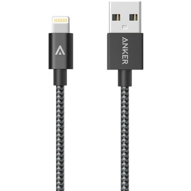 Anker Nylon-Braided USB to Lightning Cable 3ft / 0.9m (Space Grey)