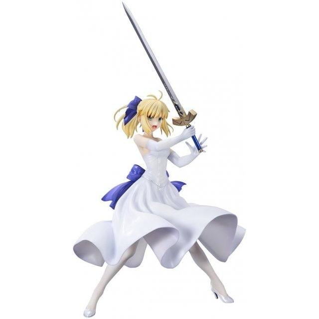 Fate/Stay Night Unlimited Blade Works 1/8 Scale Pre-Painted Figure: Saber White Dress Ver. (Re-run)