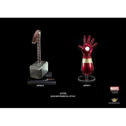 King Arts 1/1 Movie Props Series Avengers Age of Ultron: Thor Hammer Mjolnir & Mark 43 Armor Set (Pedestal Style)