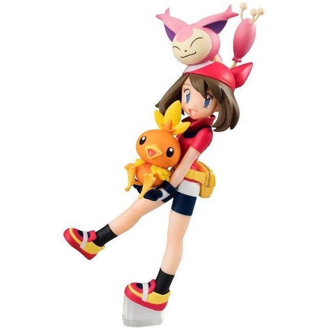 G.E.M. Series Pocket Monsters Pre-Painted PVC Figure: Haruka & Torchic & Skitty