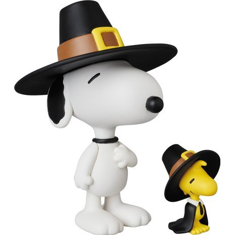 Peanuts Series 5 Ultra Detail Figure: Pilgrim Snoopy & Woodstock