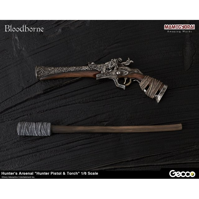 Bloodborne 1/6 Scale Weapon: Hunter's Arsenal Hunter Pistol & Torch