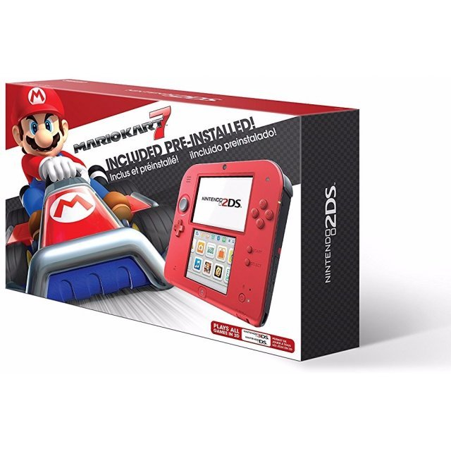 Nintendo 2DS Mario Kart 7 Bundle (Crimson Red 2)