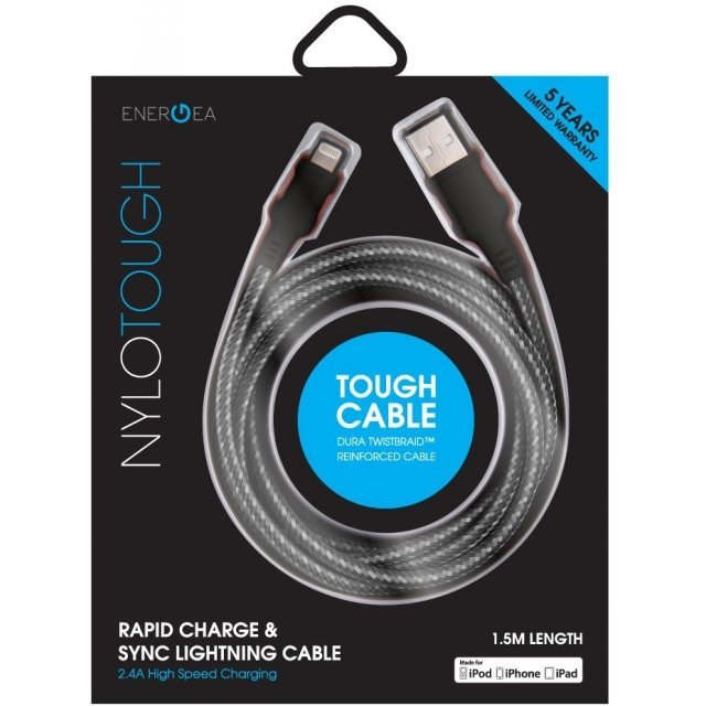Energea NyloTough Lightning Cable 1.5m (Black)