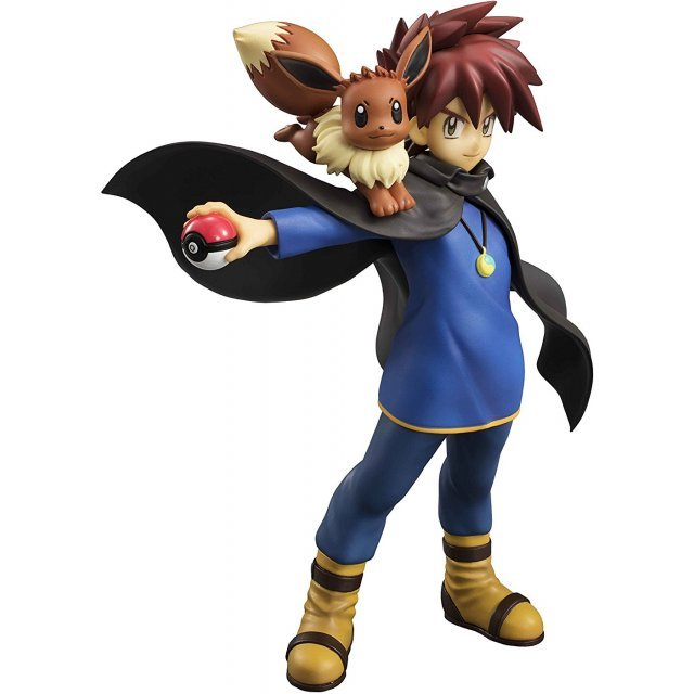 G.E.M. Series Pocket Monsters Pre-Painted PVC Figure: Shigeru & Eevee