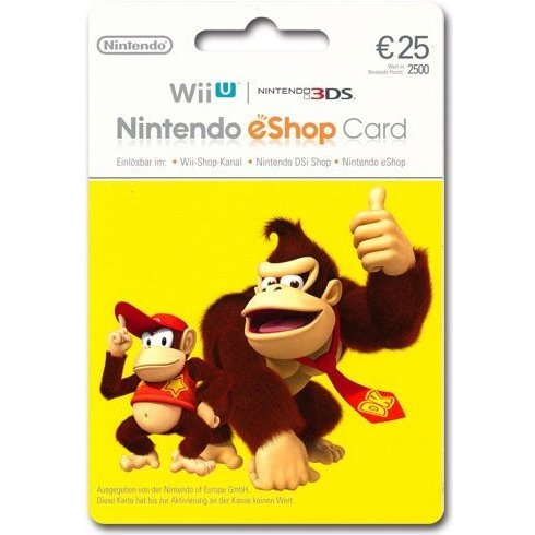 Nintendo eShop Card 25 EUR | Europe Account
