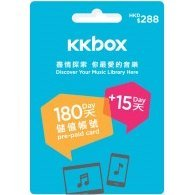 KKbox Pre-Paid Card (HKD288 for Hong Kong accounts only)
