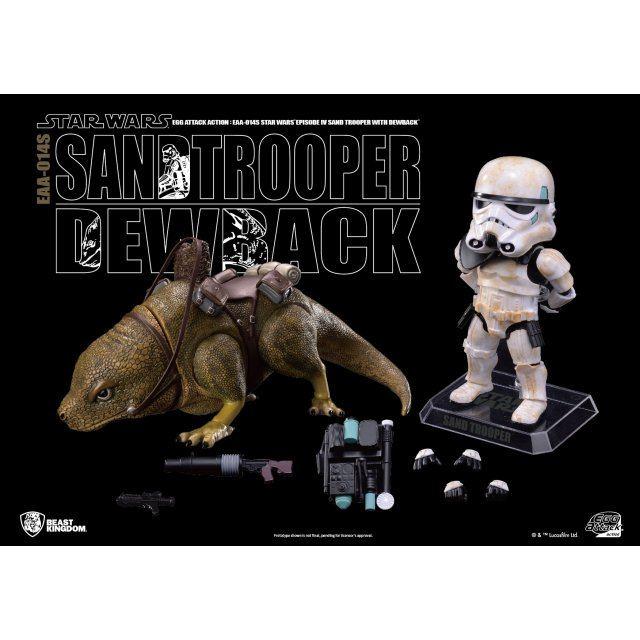 Egg Attack Action Star Wars Episode IV A New Hope: Dewback & Imperial Sandtrooper