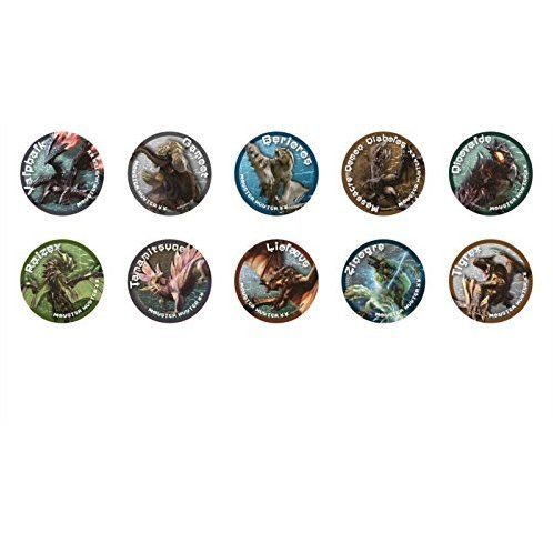 Monster Hunter XX Monster Can Badge Collection (Set of 10 pieces)