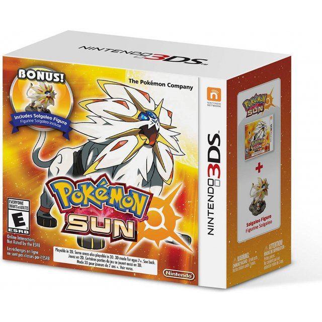 Pokemon Sun with bonus Solgaleo Figure