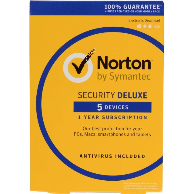 Norton Security Deluxe 2017, 1 Year, 5 PC